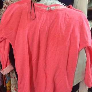 HnM pink sweatshirt