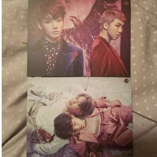 BTS WINGS Jungkook and RapMonste/ Jimin and Suga fan-made pc