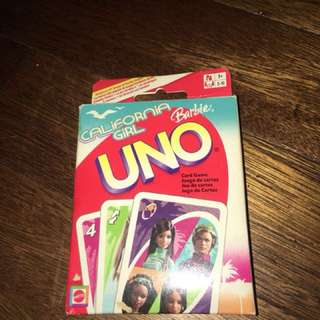 BARBIE UNO CARDS