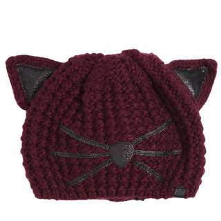 Karl lagerfeld 貓咪毛帽 新款