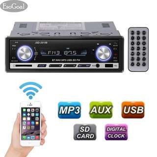 EsoGoal Car Stereo Bluetooth Wireless Digital Media Single-Din in Dash Receivers USB/SD/Audio MP3 Player/FM Radio with Remote Control - intl