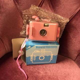 防水絕版傻瓜底片粉色相機