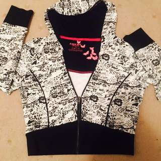 Face Off Patterned Crop-ish Hoodie