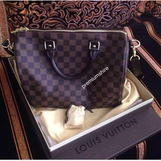 Authentic LV Speedy Bandouliere 30 Damier