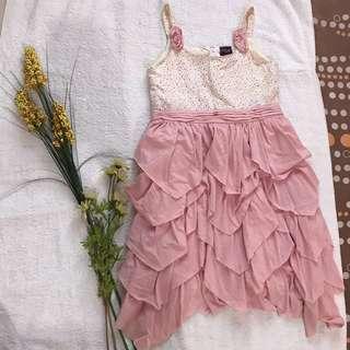 Ruffled Baby Pink Dress