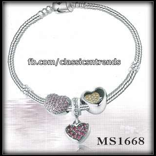 FREE SHIPPING! Pandora-inspired Bracelet with Charms