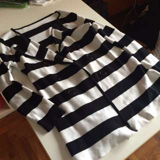 Pre-loved Striped Long Cardigan