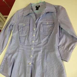 Blue & White Striped H&M Top