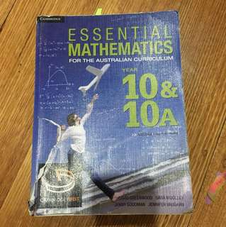 essential mathematics - year 10 and 10A