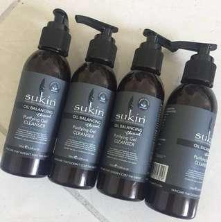 NEW bulk lot Sukin oil balancing purifying gel cleanser - bulk sale - all 4 face wash