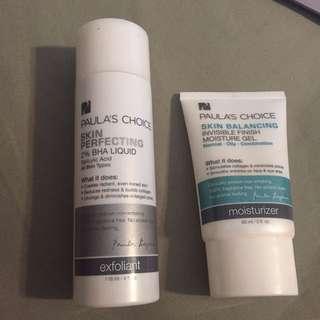 Paula's choice products bha moisturizer gel