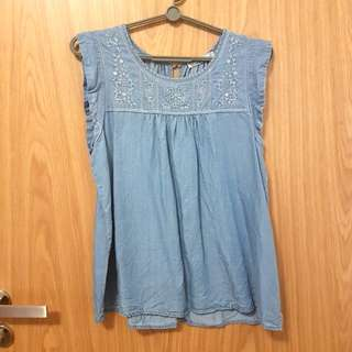 Cotton On Denim Blouse
