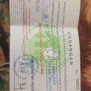 tiket taman safari