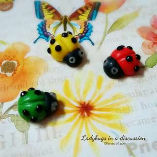 ladybug brooch or pin shawl