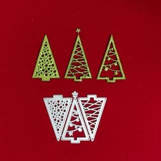 Christmas trees scrapbooking Cutting Dies set of 3