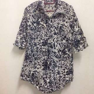 #Take10off floral blouse
