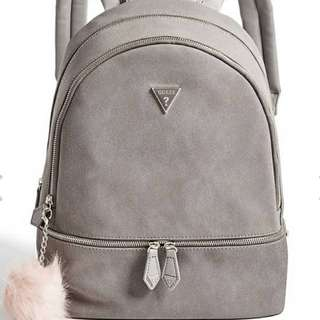 BNWT guess grey suede back pack