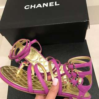 Authentic Chanel sandals brand new