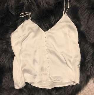Bardot white cami