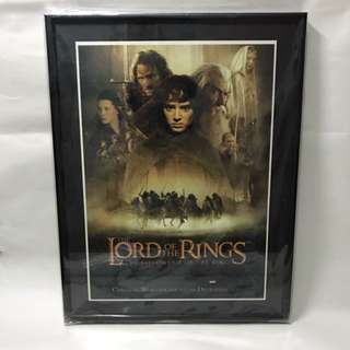 Mini Lord Of The Rings Poster With Frame