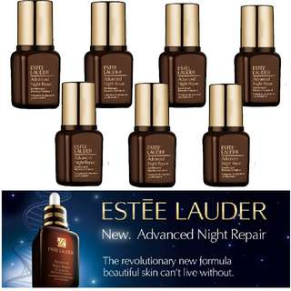 Estee Lauder Advanced Night Repair ANR 7ML x 7Pcs -Best Deal in Town! Free Make up Pouch!