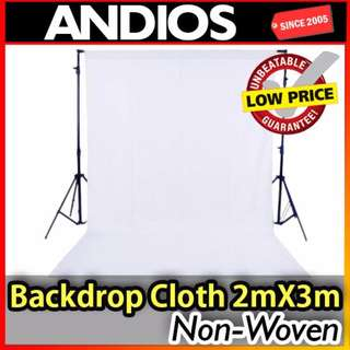 2mx3m Photo Studio Backdrop Background Cloth Non-Woven Kain