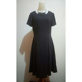 Blue Black simple Dress