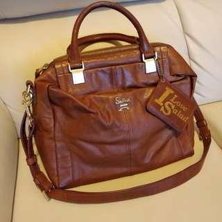 Salad - brown leather bag