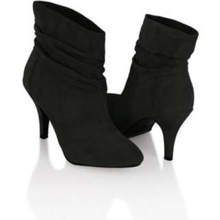 FOREVER 21 SLOUCH ANKLE BOOTS IN MEDIUM GREY $31