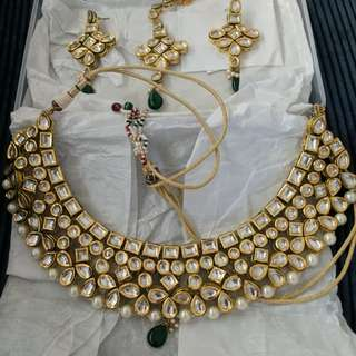 Indian real kundan jewelry set