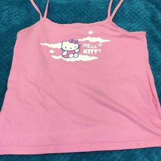 Hello kitty 12 pink singlet