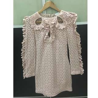 Pre Loved Alice Mccall ruffle pink dress size AU 6 (XS)