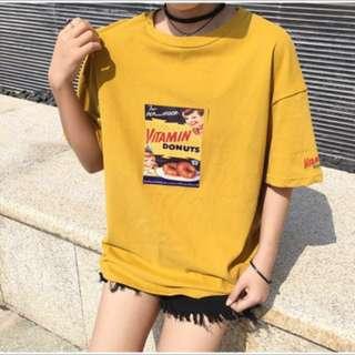 韓系復古個性卡通短袖上衣