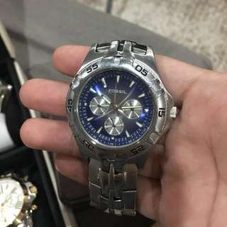 Fossil Blue Chronograph Watch