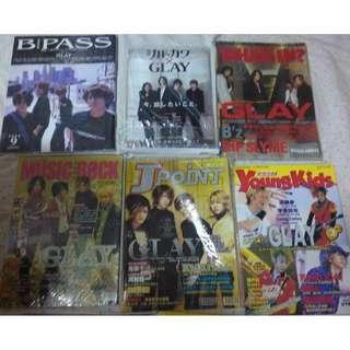 Glay  (Japanese band) 封面雜誌 - 日本音樂明星雜誌