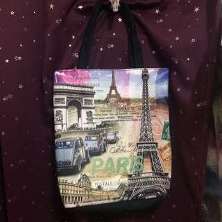 巴黎鐵塔&凱旋門圖案則袋