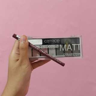 Value Set Catrice Eyeshadow Palette dan Lip Liner