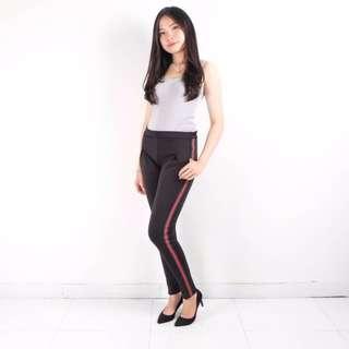 stripe gucci pants