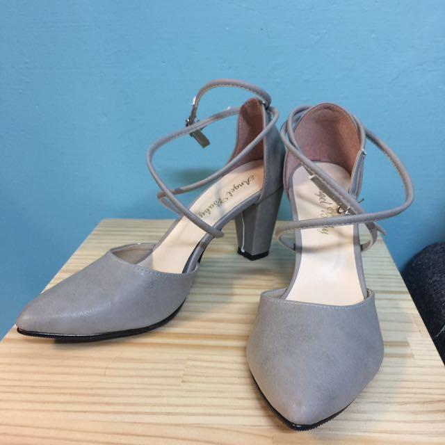 氣質藕灰包頭涼鞋-25號 ☀️含運🙈