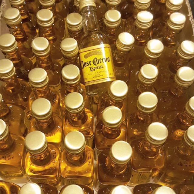 50mL miniature Cuervo tequila bottles