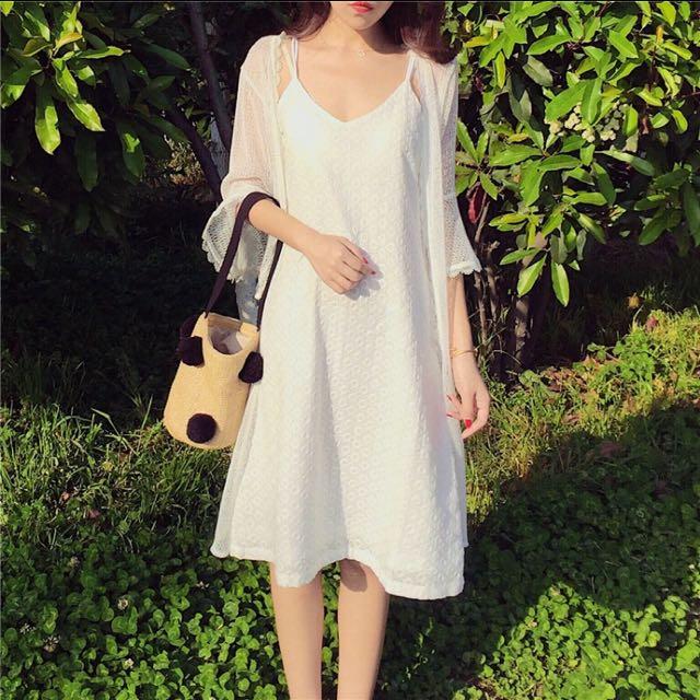 韓版提花氣質洋裝
