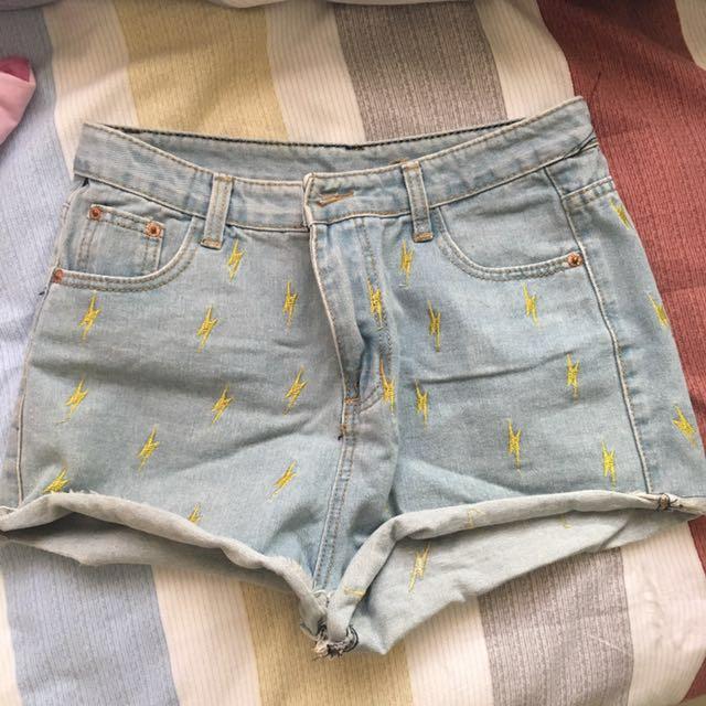 二手)閃電牛仔短褲