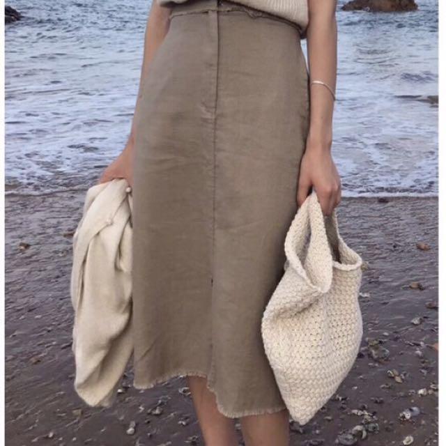 氣質高腰純色長裙