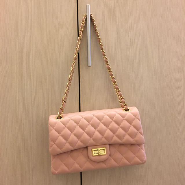 粉色菱格包(🚫不換物唷)