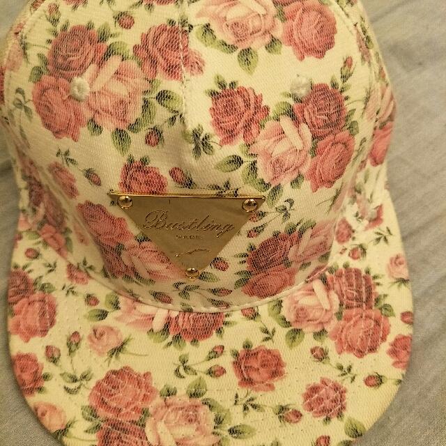 玫瑰花紋帽