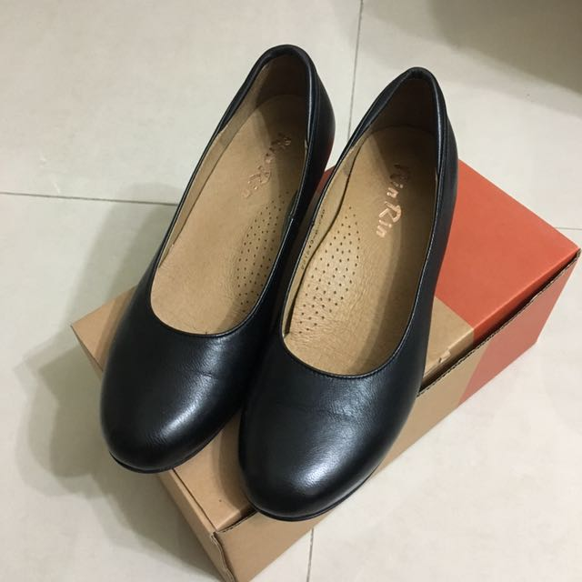 真皮空姐黑色低跟鞋 包鞋 上班族 秘書