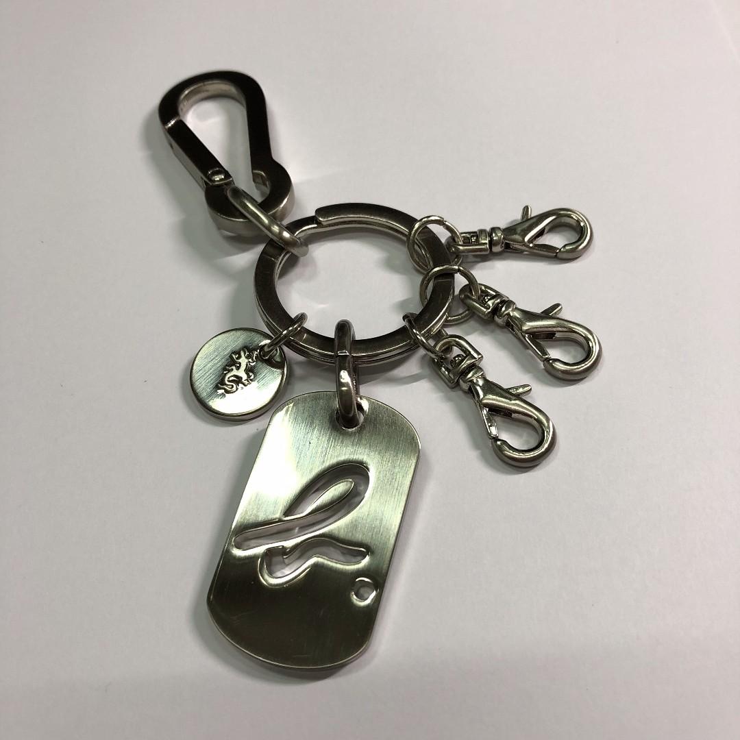日本 agnes b. 鑰匙圈 LOGO 蜥蜴 銀色 (送禮 自用 皆可)
