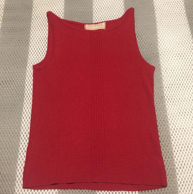 出賣🇯🇵系列 Cocolulu 針織無袖紅色上衣