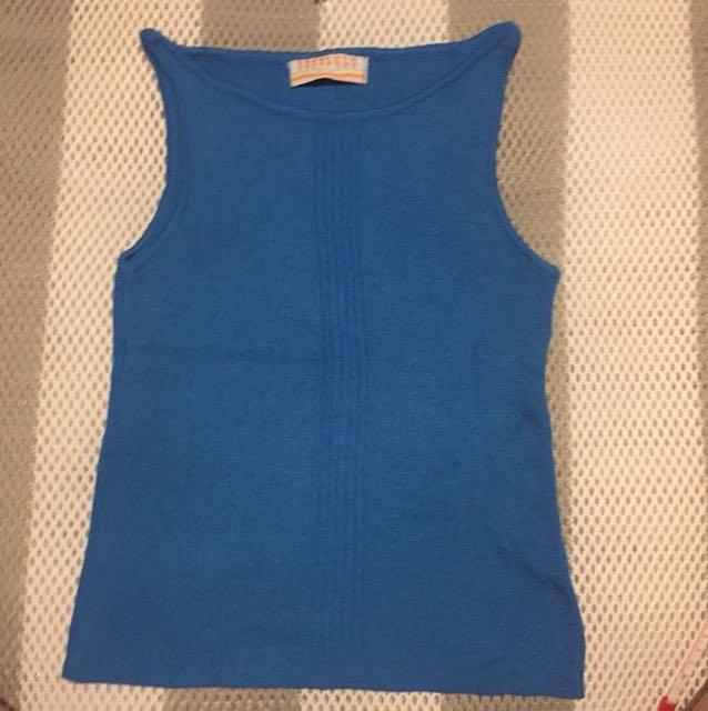 出賣🇯🇵系列 cocolulu 日本製藍色針織無袖上衣