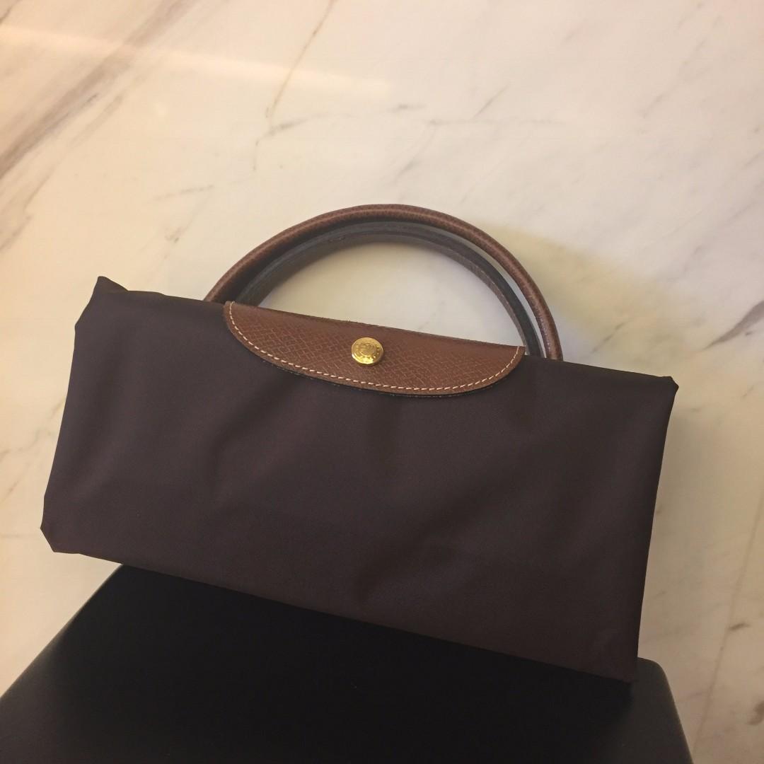 用過一次 Longchamp le pliage XL travel bag 咖啡色 旅行袋